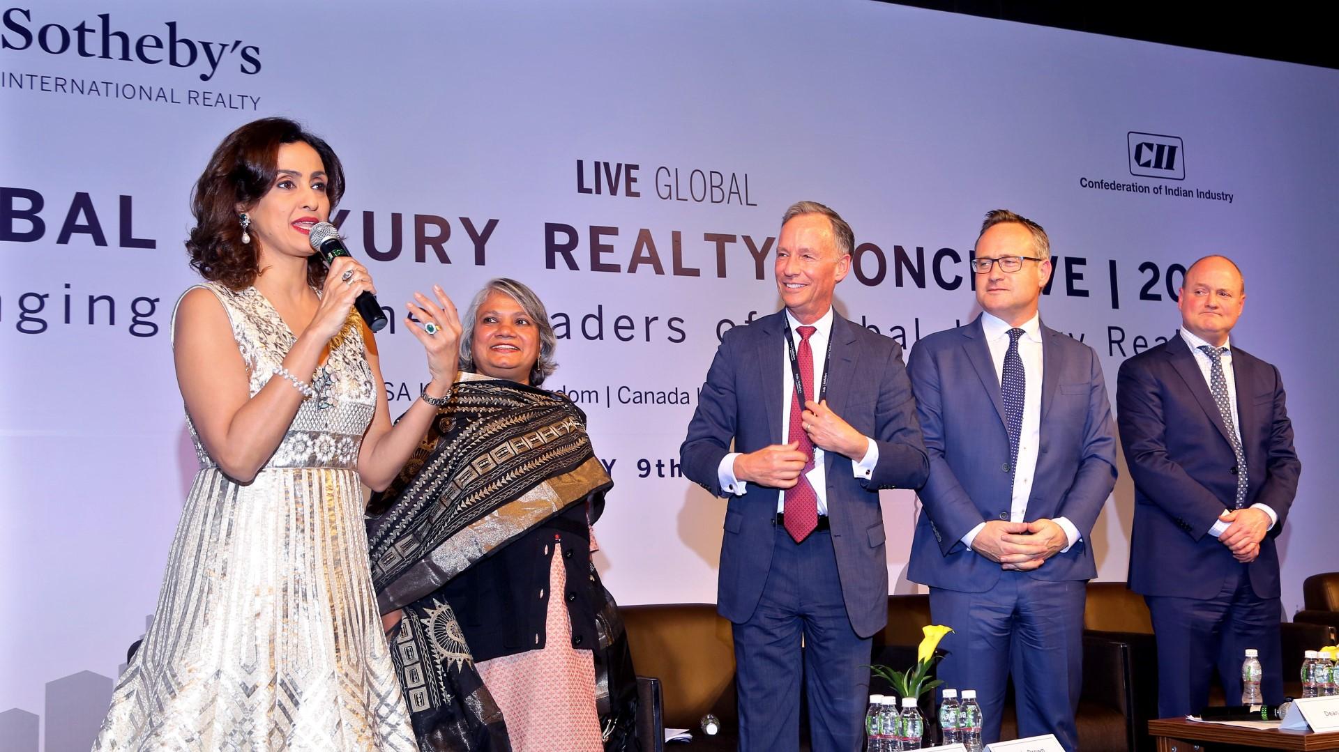 Shivani compèring Sotheby's Conclave 2018